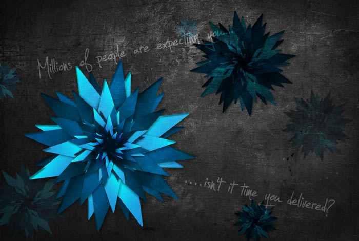 Grungy vector flower