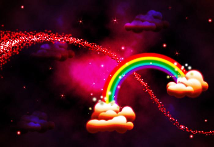 Rainbow Clouds Composite
