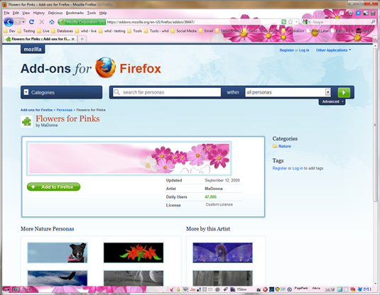 Hundreds of themes available for Firefox and Chrome