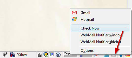 Be instantly notified when you receive webmail