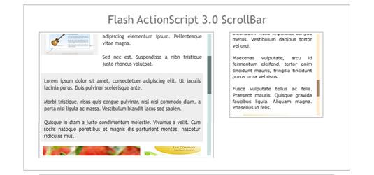 Flash scrollbar examples