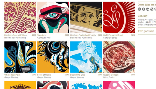 gingermonkeydesign.com portfolio