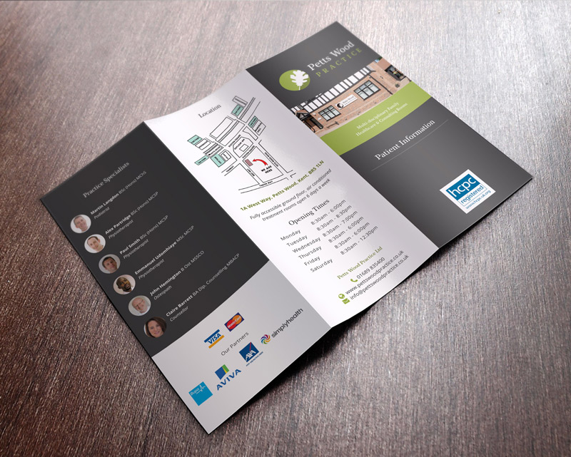 Trifold brochure - front