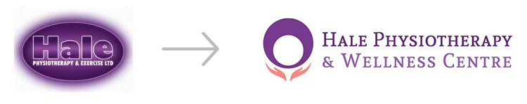 New logo design for Hale Physiotherapy & Wellness Centre