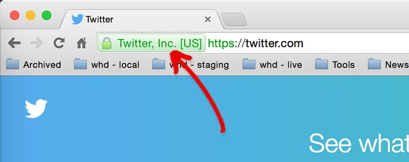 Extended SSL Certificate used on Twitter