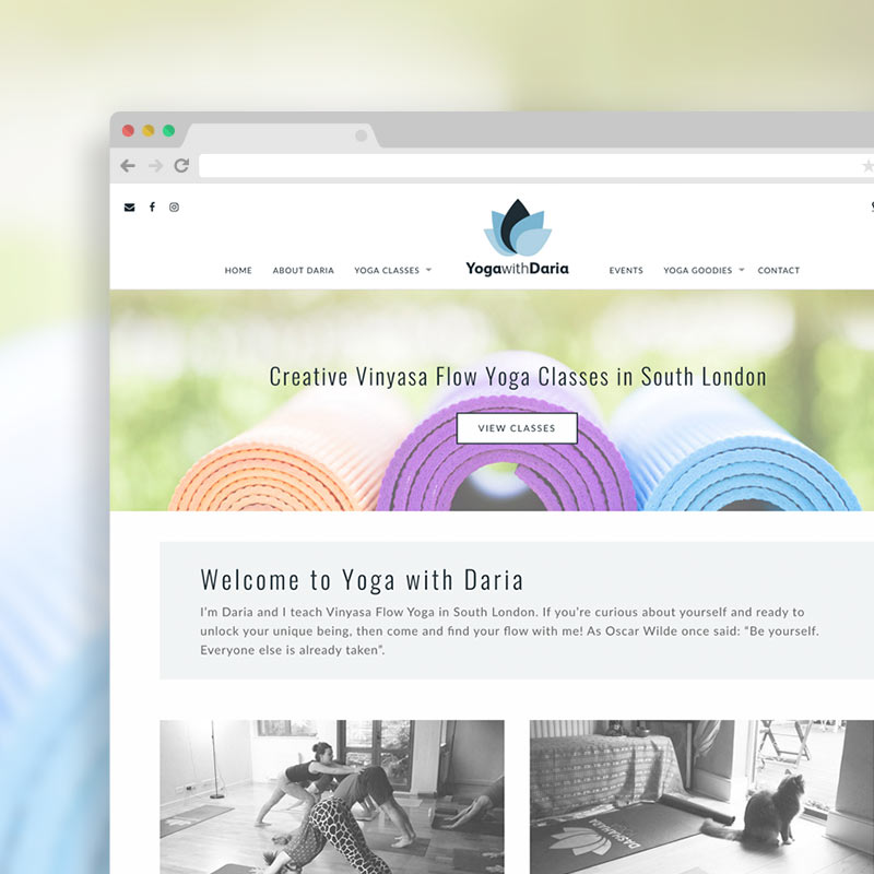 Yoga with Daria - yoga Website