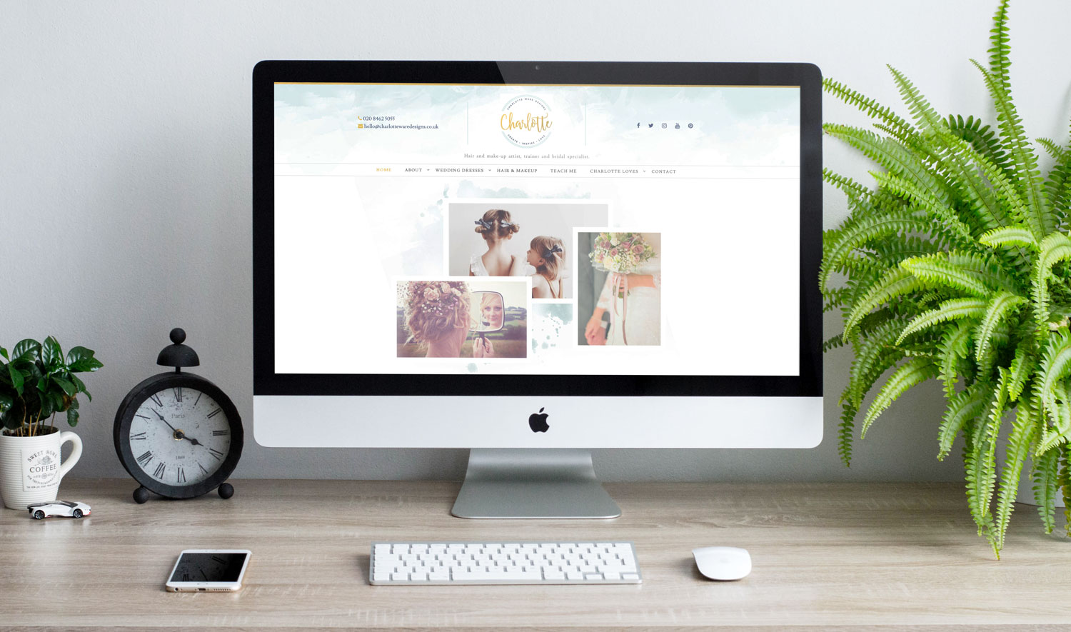 Responsive website design for Charlotte Ware Designs