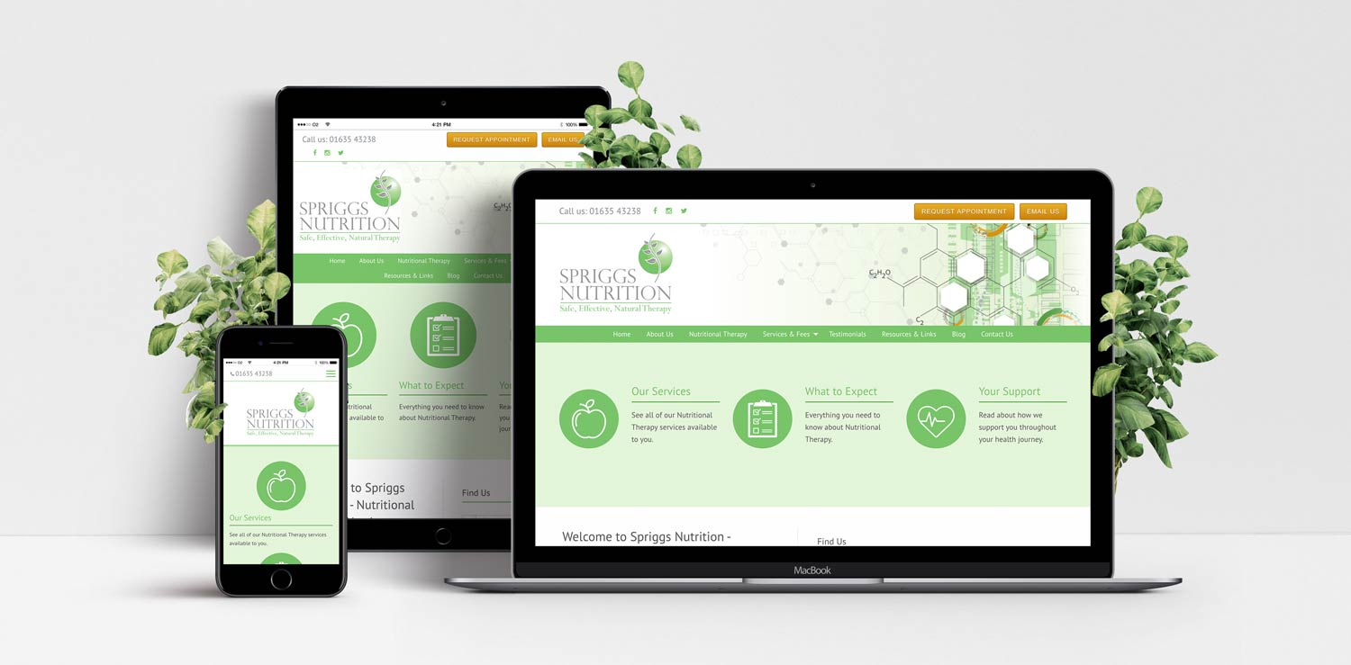 Spriggs Nutrition responsive website