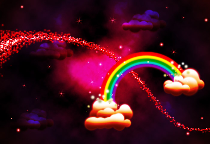 Rainbow Clouds Composite